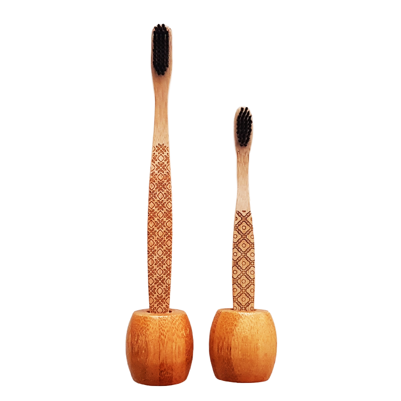 Support brosse à dents bambou